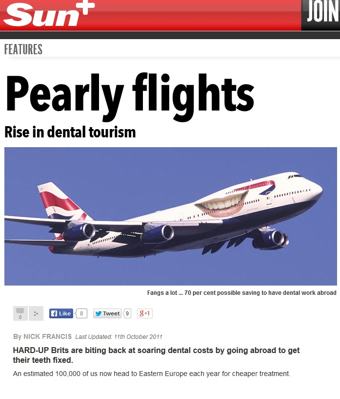 The Sun on dental tourism in Poland